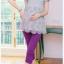 เลกกิ้งคนท้องขาสี่ส่วน สีม่วงสด ขยายได้ตามรูปท้อง มีจั้มด้านข้างเนื้อผ้านุ่ม ใส่สบาย thumbnail 1