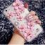 เคส oppo N1 เคสพลาสติกใสลายแฟชั่นประดับดอกไม้สีชมพู 3D thumbnail 1