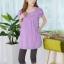 เสื้อให้นม แขนสั้น คอบัว สีชมพูเนื้อผ้าคอตตอน นุ่ม ใส่สบายด้านข้างมีกระเป๋าใส่ของ thumbnail 5