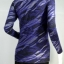 BOSSINI Style เสื้อยืดแขนยาวสีม่วง blueberry ลายริ้วสีดำ/บรอนซ์เงิน ทรงเข้ารูป thumbnail 2