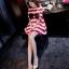 เสื้อคลุมท้องสไตล์เกาหลี ผ้ายืดลายขาว-แดงใส่สบายมากค่ะ thumbnail 4