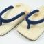 Slim Geta-03 รองเท้าเกี๊ยะแบบเรียบไม้ธรรมชาติ เชือกสีน้ำเงิน thumbnail 1