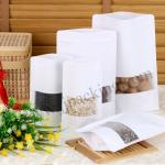 [สินค้าตัวอย่าง/Sample]ถุงกระดาษขาว ซิปล็อค ตั้งได้ หน้าต่างขุ่น 17x24+4 cm. 1ใบ