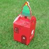 กล่องลายคริสต์มาส สีแดง แพ็ค 10 ใบ