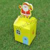 กล่องลายคริสต์มาส สีเหลือง 1 ใบ