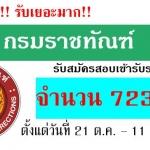 """++[[เปิดสอบ]] กรมราชทัณฑ์ รับสมัครสอบบรรจุบุคคลเข้ารับราชการ """"ตำแหน่งเจ้าพนักงานราชทัณฑ์ปฏิบัติงาน"""" 723 อัตรา"""