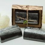 สบู่ใยบวบผสมถ่านไม้ไผ่ & น้ำผึ้ง Bamboo Charcoal & Honey Luffa Soap Bar - Bangkok Brand ปี 2560