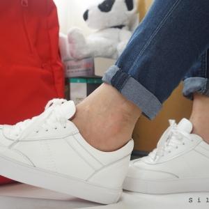 รองเท้าสไตล์เกาหลี ผ้าใบสีขาว Size 36