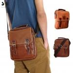 กระเป๋าสะพายไหล่ กระเป๋าถือ ขนาด 10 นิ้ว สามารถใส่ I-Pad ได้พอดี (2 ตัวล็อกด้านหน้า)