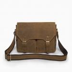 [Bag Experience] กระเป๋าสะพายข้าง กระเป๋าใส่เอกสารขนาด A4 กระเป๋าถือทรงนักเรียน หนังวัวCrazy Horse