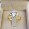 แหวนเพชรประกบดีไซน์ดอกไม้