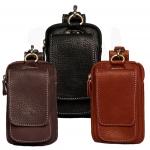 กระเป๋าจัดระเบียบเพื่อร้อยเข็มขัด สำหรับใส่โทรศัพท์หรืออุปกรณ์ต่างๆ หนังแท้ นุ่มปกป้องโทรศัพท์ของคุณ