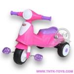 จักรยานสามล้อถีบเวสป้า สีชมพู