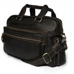 กระเป๋าสะพายข้าง กระเป๋าถือ กระเป๋าเดินทาง หนังแท้ สีน้ำตาลเข้ม สไตล์สปอร์ต ใช้ได้ทั้งชายและหญิง