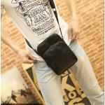 กระเป๋าสะพายข้าง หนัง PU สีดำ | LT09
