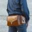 กระเป๋าคาดอก & กระเป๋าคาดเอว หนังแท้ สไตล์คาวบอย ใส่ไอแพท โทรศัพท์ ปืนพกสั้นและอุปกรณ์ต่างๆ {โทนสีดำ}