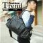 กระเป๋าสะพายข้าง หนัง PU สีดำ | LT23 thumbnail 1