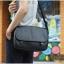 กระเป๋าสะพายข้าง หนัง PU สีดำ | LT11 thumbnail 4