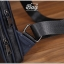 กระเป๋าสะพายไหล่ หนัง PU สีดำ | LT19 thumbnail 7