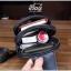 กระเป๋าสะพายไหล่ หนัง PU สีดำ | LT19 thumbnail 3