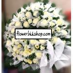 พวงหรีดดอกไม้สด รหัส WWR23