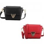 พร้อมส่ง กระเป๋าถือ กระเป๋าสะพายข้าง แบรนด์ Maomao รุ่น M56027 (สีดำ สีแดง)