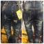 กางเกงยีนส์ขาเดฟ แถบสามเหลี่ยม งานเกาหลี แพค 5 ตัว ขนาด 110-150 thumbnail 1