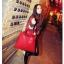พร้อมส่ง กระเป๋าถือ แบรนด์ Maomao รุ่น M89003 (สีดำ สีแดง) thumbnail 9
