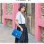 พร้อมส่ง กระเป๋าถือ กระเป๋าสะพาย แบรนด์ Maomao รุ่น m90060 (สีฟ้า) thumbnail 6
