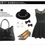 พร้อมส่ง กระเป๋าถือ แบรนด์ Maomao รุ่น M89003 (สีดำ สีแดง) thumbnail 12