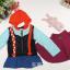 เสื้อกันหนาวเปียแอนนาเปีย+ผ้าคลุมไหล่ แพค 5 ตัว ขนาด 100-140 *พร้อมส่ง* thumbnail 1