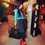 พร้อมส่ง กระเป๋าถือ แบรนด์ Maomao รุ่น M89003 (สีดำ สีแดง) thumbnail 5