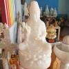 เจ้าแม่กวนอิม หินหยกอัด (สีขาว) ขนาดสูง 70 cm