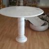 โต๊ะหินอ่อน ทรงกลม (ขนาดเล็ก) 80ซม ไม่มีเก้าอี้