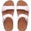 fitflop goodstock nubuck slide sandals สีขาว/น้ำตาล ราคา 550