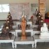 โต๊ะหมู่บูชาหินอ่อน 9 ชิ้น ฐาน กว้าง 85 เซนติเมตร ยาว 145 เซนติเมตร สูง 45 เซนติเมตร