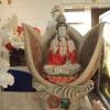 เจ้าแม่กวนอิมนั่งในดอกบัว ขนาด กว้าง 40 สูง 50 cm