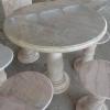 โต๊ะหินอ่อนขนาด 100 เซนติเมตร เก้าอี้ 5 โต๊ะสูง 80 เซนติเมตร