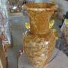 แจกันหินอ่อน หยกน้ำผึ้งแก้ว ขนาดสูง 40 เซนติเมตร กว้าง 20 เซนติเมตร