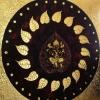 ภาพพระพิฆเนศวร ภาพวาด ติด ทองคำเปลวแท้100% ขนาด1x1เมตร