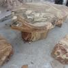 โต๊ะหิน ธรรมชาติ กว้าง 100 ยาว 50 ซม. โต๊ะสูง 67 เซนติเมตร เก้าอี้ 4 ตัว