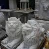 สิงโต นอน แกะสลัก หมอบ ฮ่องกงสไตล์ 120เซนติเมตร