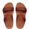 fitflop goodstock nubuck slide sandals สีน้ำตาล ราคา 550