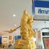 เทพเจ้ากวนอู พ่นทอง เนื้อพ่นทราย ขนาด กว้าง 25 สูง 50 cm