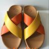 รองเท้า fitflop สวมกากบาททูโทนสีเหลือง-ส้มราคา550บาท