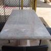 โต๊ะหินอ่อนสี่เหลี่ยม ขนาด ยาว155 เซนติเมตร กว้าง 75 เซนติเมตร สูง 80 เซนติเมตร (ไม่รวมเก้าอี้)