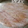 โต๊ะหินอ่อนสีชมพูทอง 80 เซนติเมตร เก้าอี้ 6 ตัว โต๊ะสูง 80 เซนติเมตร