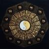 ภาพ12ราศรี หยินหยาง ภาพวาด ติด ทองคำเปลวแท้100% ขนาด1x1เมตร