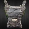 กระถางธุปหินอ่อน ทรงจีน สี่เหลี่ยม สูง1เมตร