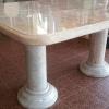 โต๊ะหินอ่อน สี่เหลี่ยมขนาด ยาว 160 กว้าง 120 เซนติเมตร สูง 80 เซนติเมตร